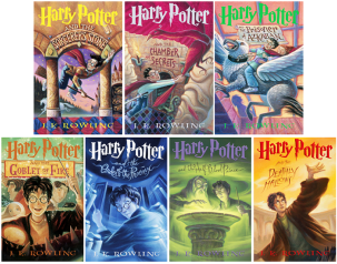 Image result for harry potter book cover